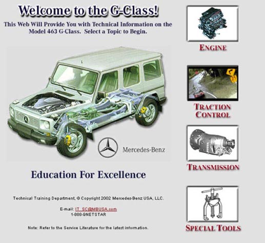 Introduction g500 463 gel ndewagen overview g wagon for Mercedes benz technical support