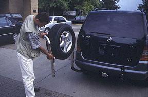 Mercedes Sprinter Spare Tire Carrier